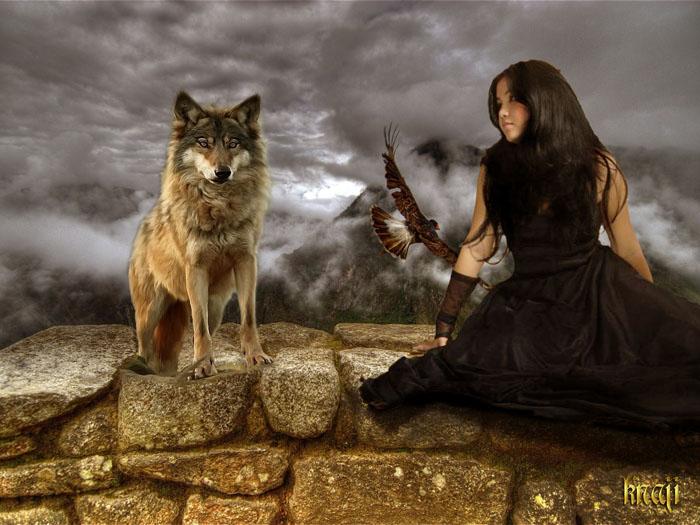 فتاة الذئب