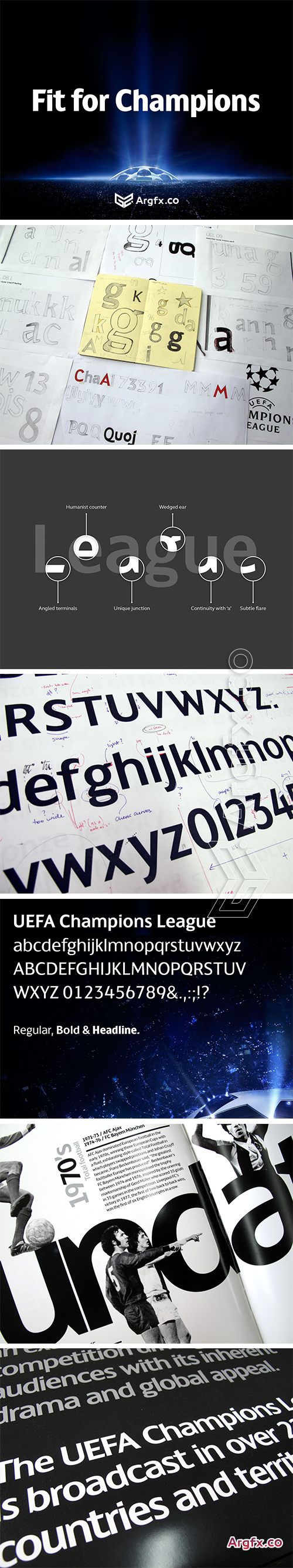 FS Champions - Custom Typeface of UEFA Champions League