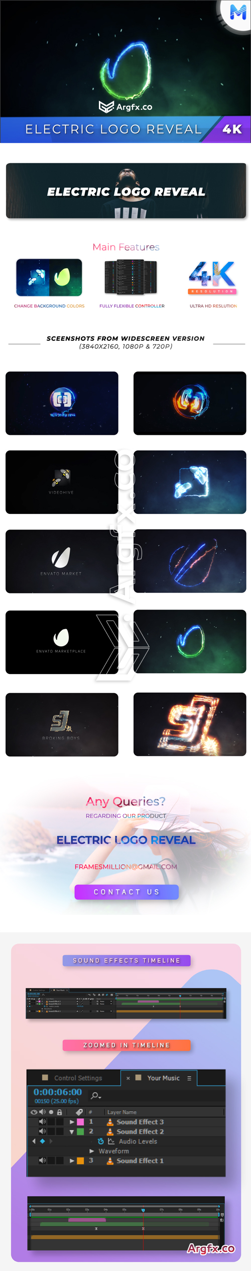 Videohive - Electric Logo Reveal - 22163840