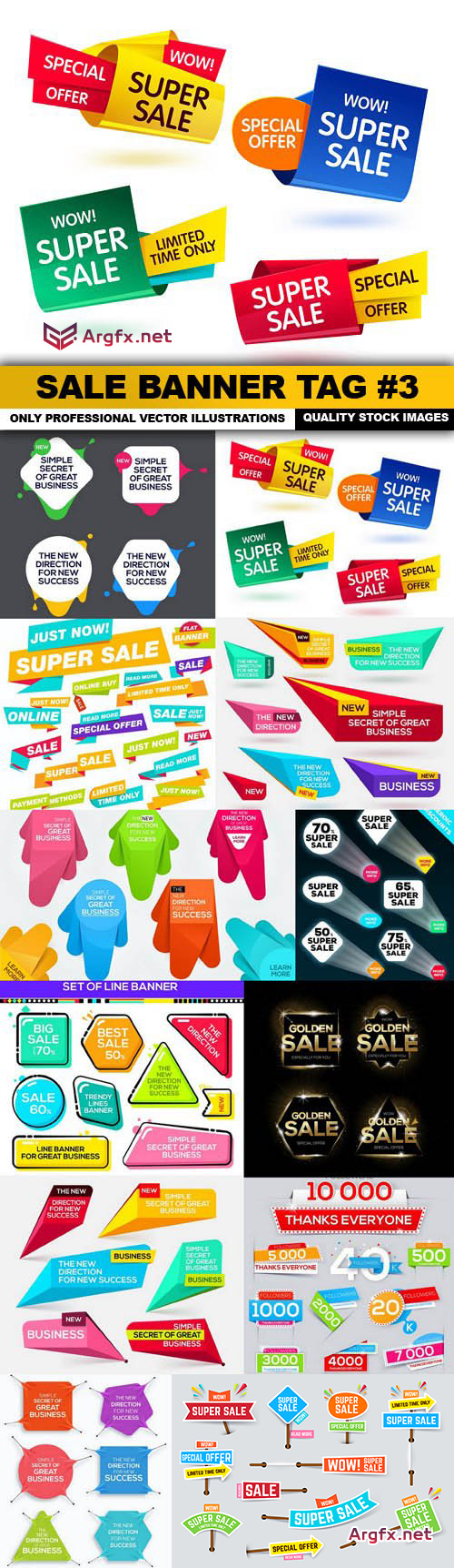 Sale Banner Tag #3 - 12 Vector