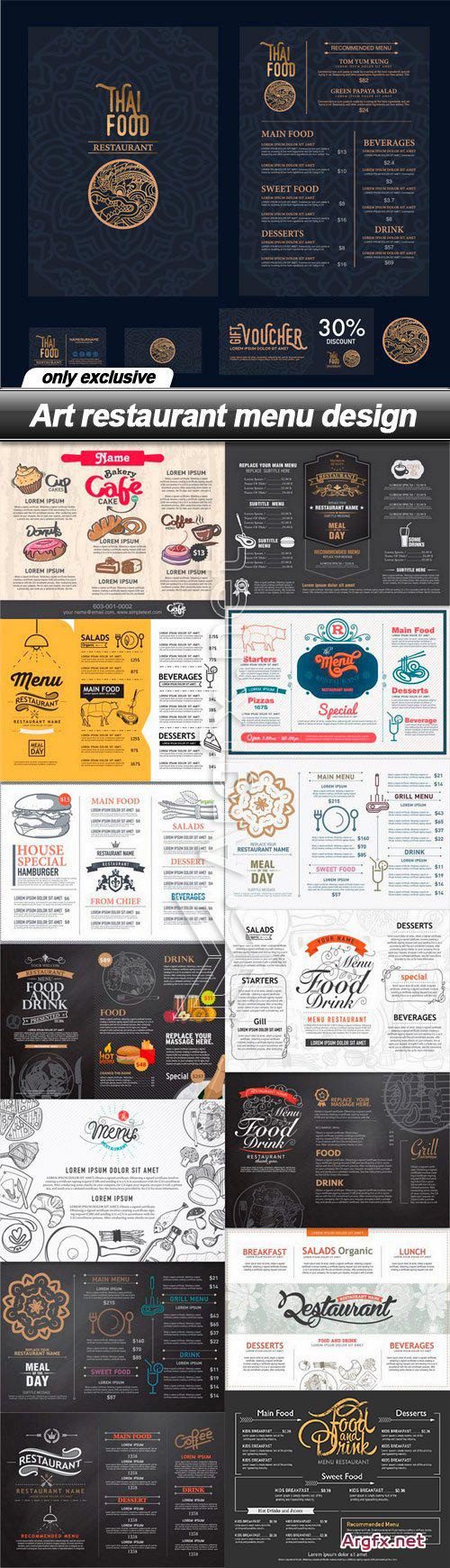 Art Restaurant Menu Design - 15 EPS