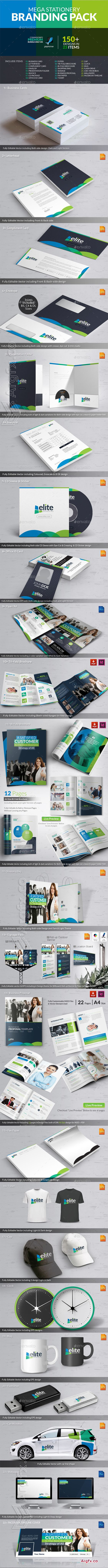 GraphicRiver - Elite Business Branding Identity Mega Pack 10066175